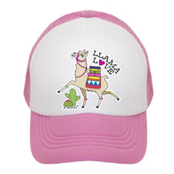 Light Pink Llama Love Trucker Hat | JP DOoDLES