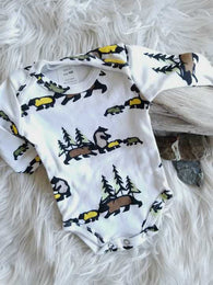 Bear Family Long Sleeve Onesie | Thingamajiggies