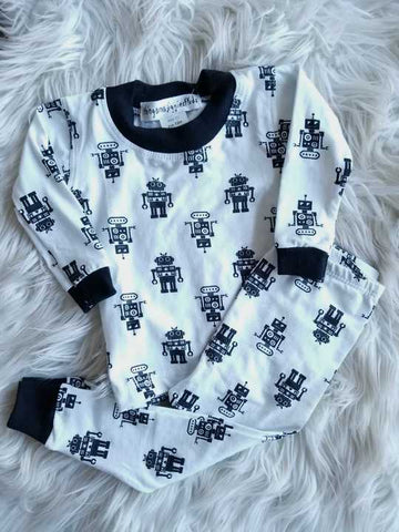 Robot 2 Piece Pajama Set | Thingamajiggies