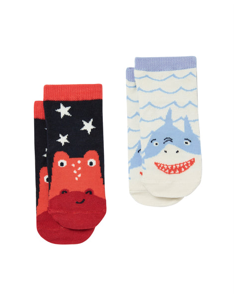 Red Dino Neat Feet Socks | Joules