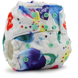 Print g2 One Size Pocket Diaper with 6-r Soaker- SNAP | Rumparooz