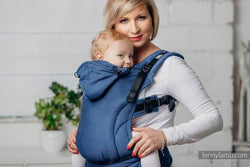 Cobalt Herringbone Baby Size Lenny Lamb Ergonomic Carrier - Nature Baby Outfitter