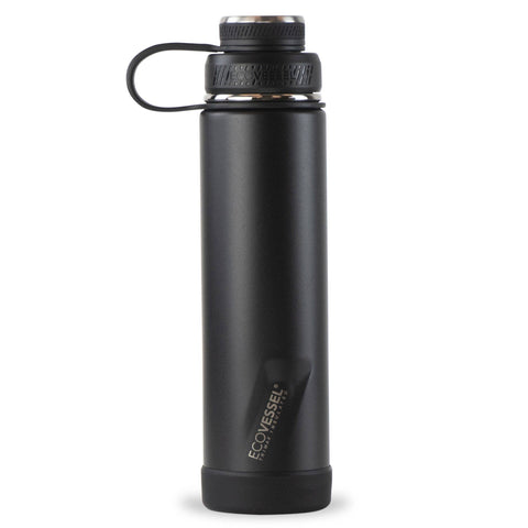 Black Shadow Insulated Stainless Steel 24oz Bottle | EcoVessel