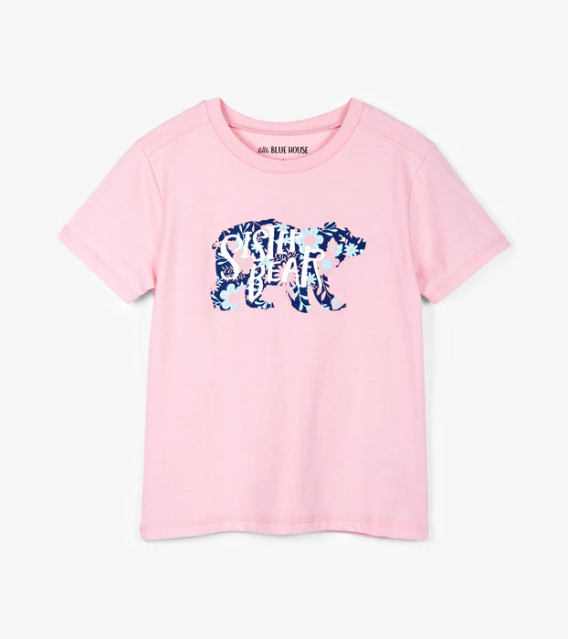 Sister Bear Kids Crew Neck Tee | Little Blue House by Hatley