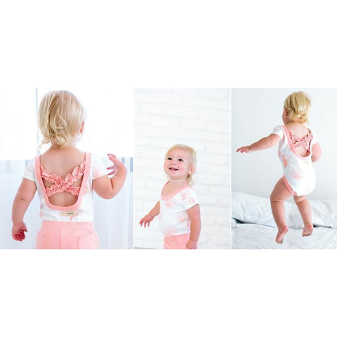 Sea Fan Lovedbaby Organic Ruffled Leotard - Nature Baby Outfitter