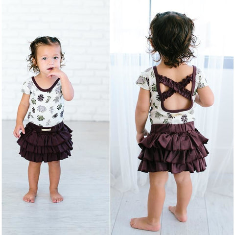 Succulents Lovedbaby Organic Ruffled Leotard - Nature Baby Outfitter