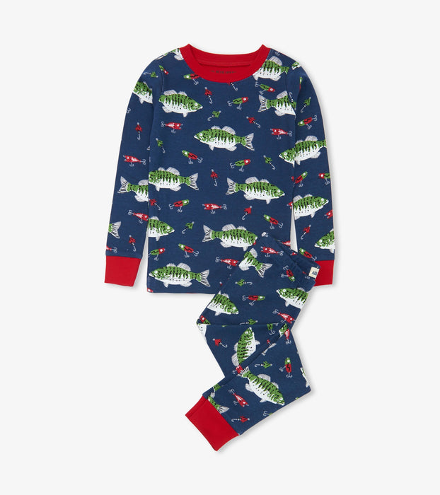 Gone Fishing 2 Piece Pajamas  | Little Blue House by Hatley