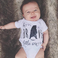White Be Brave, Little One Bodysuit | The Pine Torch