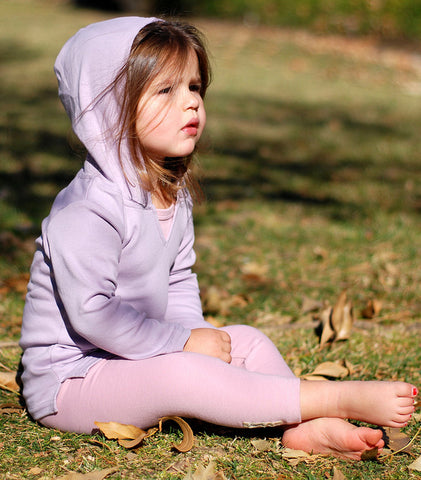 Lavender Lovedbaby Organic Cotton Hoodie - Nature Baby Outfitter