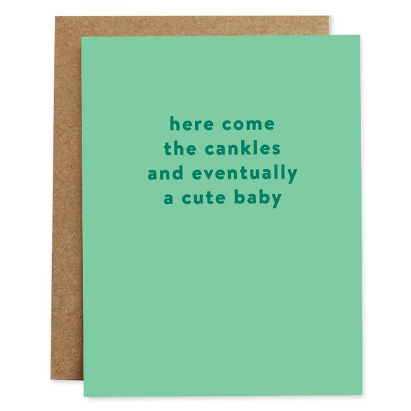 Cankles Baby Card | Rhubarb Paper Co.