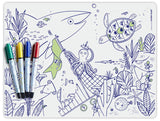 Silicone Coloring Mat with 4 markers