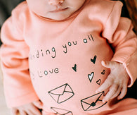 Sending You My Love Footie | Lovedbaby - Nature Baby Outfitter