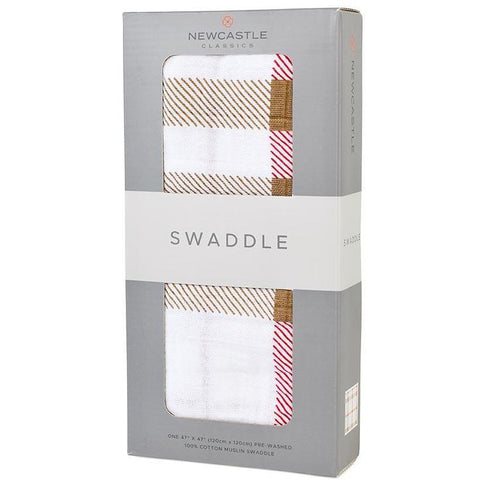 Plaid Swaddle| Newcastle