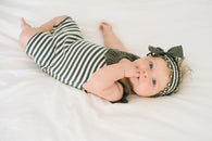 Grey & Beige Organic Bubble Romper | lovedbaby - Nature Baby Outfitter