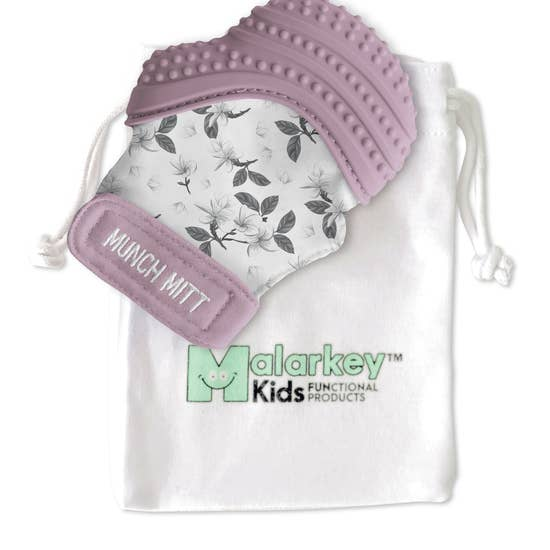 Lilac Bloom Munch Mitt | Malarkey Kids