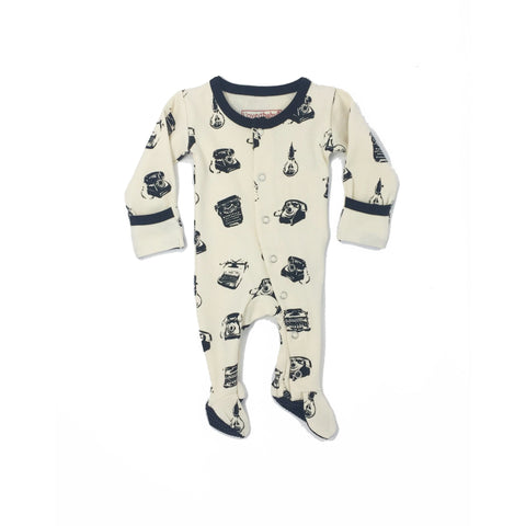 Retrogram Lovedbaby Organic Footed Overall