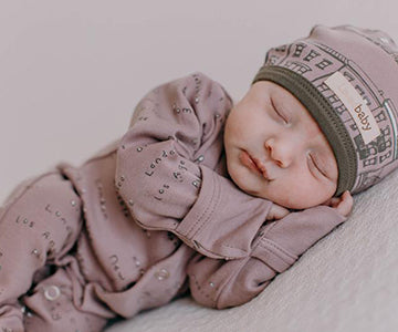 Lavender City Names Footed Coverall | Lovedbaby - Nature Baby Outfitter