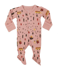 Mauve Camp Footed Coverall | Lovedbaby - Nature Baby Outfitter