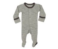 Seafoam City Names Footed Coverall | Lovedbaby - Nature Baby Outfitter