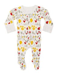 White Hike Footed Coverall | Lovedbaby - Nature Baby Outfitter