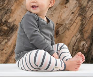 Coral Stripe Organic Leggings | Lovedbaby