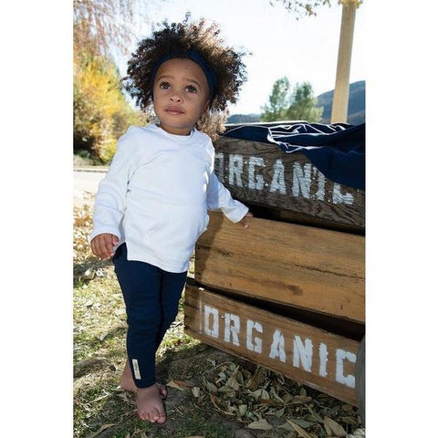 Navy Organic Leggings | Lovedbaby - Nature Baby Outfitter