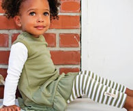 Sage Stripe Organic Leggings | Lovedbaby - Nature Baby Outfitter