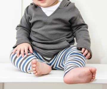 Slate Stripe Organic Leggings | Lovedbaby