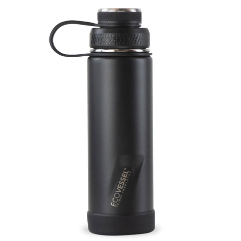 Black Shadow Insulated Stainless Steel 20oz Bottle | EcoVessel