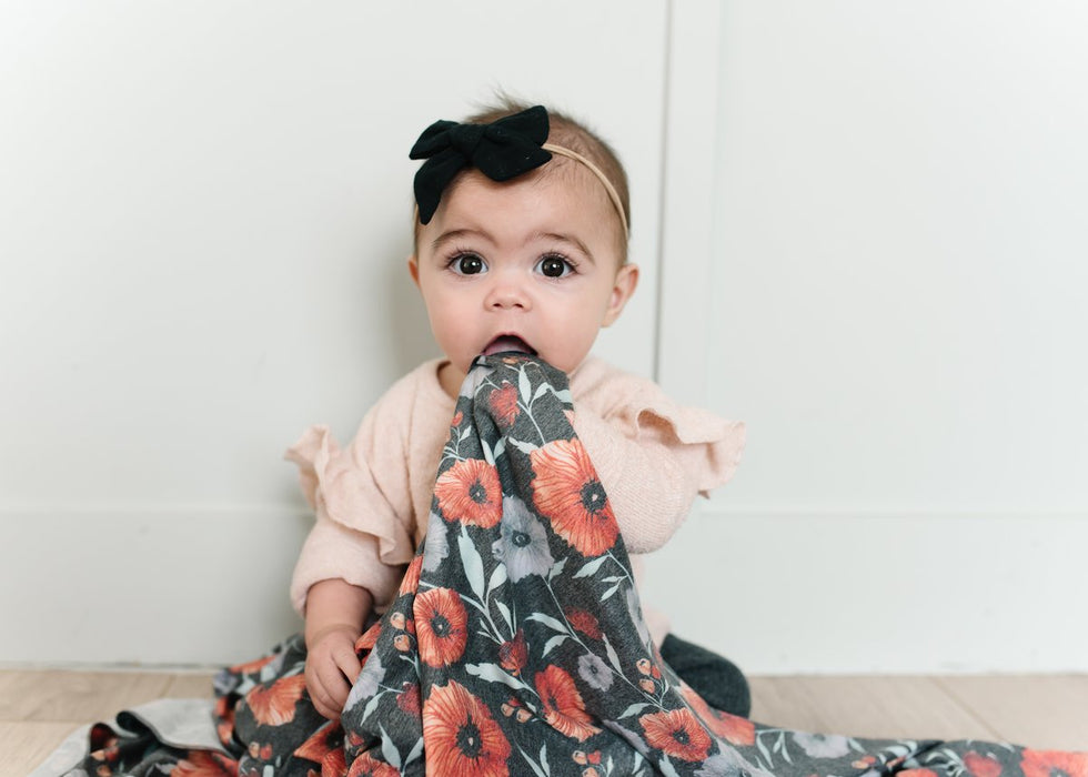 Poppy Large Premium Knit Swaddle Blanket | Copper Pearl