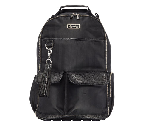 Black Herringbone Boss Diaper Bag Backpack | Itzy Ritzy