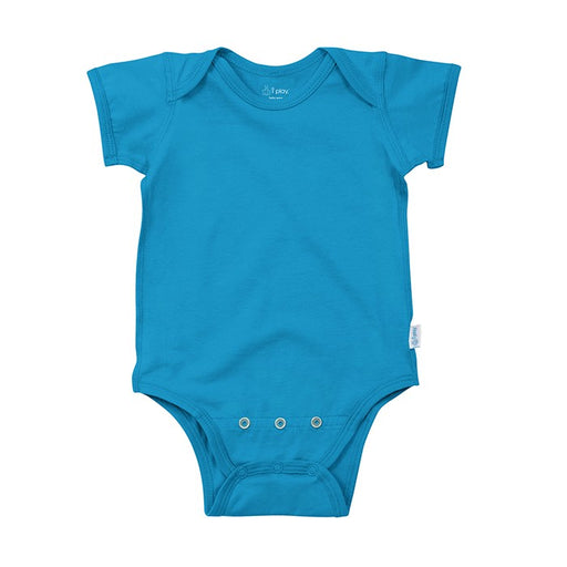 Aqua Short Sleeve Organic Cotton Adjustable Bodysuit | i Play - Nature Baby Outfitter