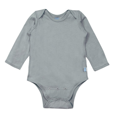 Gray Long Sleeve Organic Cotton Adjustable Bodysuit | i Play
