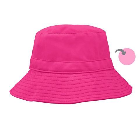 Hot Pink Organic Reversible Bucket Sun Hat | i Play