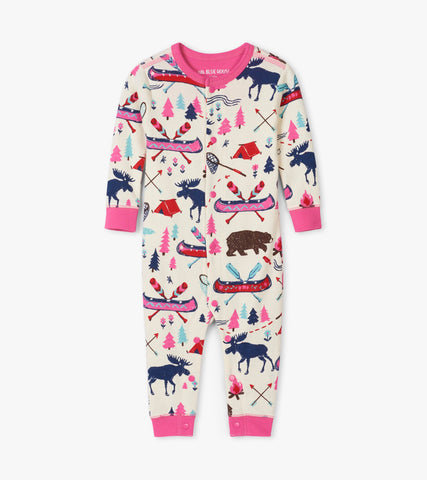 Pretty Sketch Country Kids Union Suit | Little Blue House by Hatley