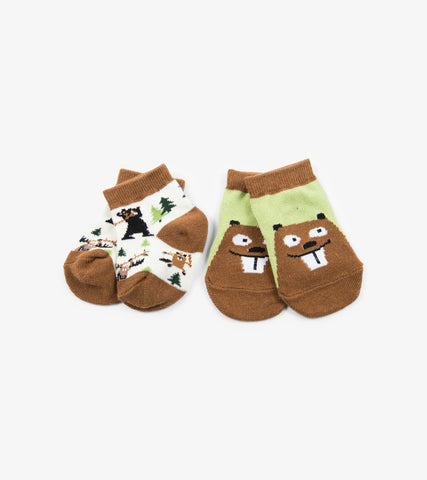 Beavers 2-Pack Baby Socks | Little Blue House by Hatley