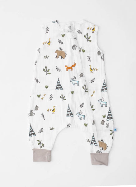 Forest Friends Cotton Muslin Sleep Romper | Little Unicorn