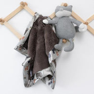 Umber Lush Forest Friends Blanket| Saranomi