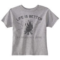 Gray 'Life Is Better With Campfires and Marshmallows' Tee | Bee Honey Babies