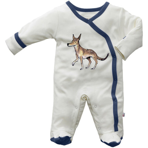 wolf footie - Nature Baby Outfitter