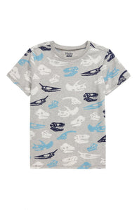 Athletic Gray Dino Fossils Graphic Tee | Hatley