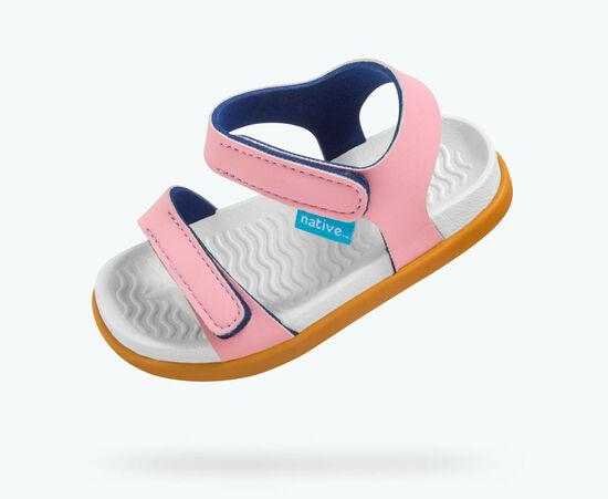 Princess Pink and Toffee Brown Charley Sandals | Native