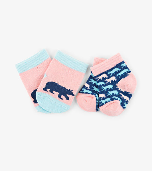 Cottage Bears 2-Pack Baby Socks | Little Blue House by Hatley