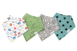 Varsity Baby Bandana Bib Set of 4 | Copper Pearl