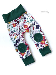 Wildflower & Green Play Pants Joggers | Matey & Me
