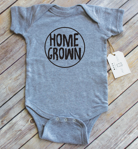 Home Grown Heather Grey Bodysuit | Paper Cow LLC