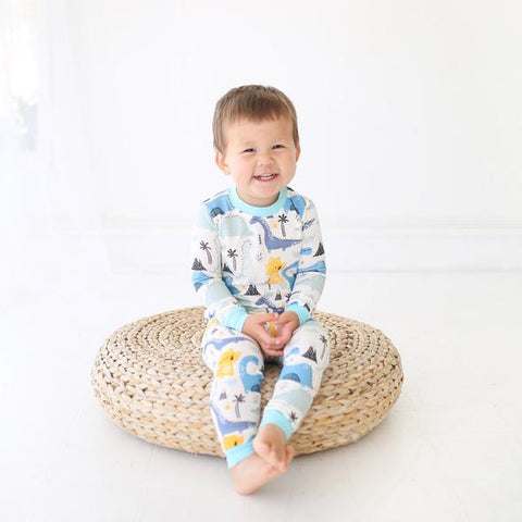 Dinosaurs Two-Piece Bamboo Pajama Set - Baby/Toddler| Little Sleepies