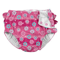 Striped Flower Ruffle Snap Swim Diaper - Nature Baby Outfitter