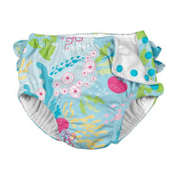 Coral Reef Ruffle Snap Swim Diaper - Nature Baby Outfitter
