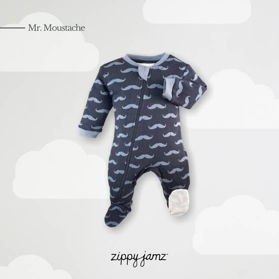 Mr Moustache Bodysuit | ZippyJamz